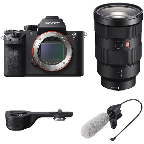 Sony Alpha a7R II Mirrorless Digital Camera with 24-70mm f/2.8 Lens and Shotgun Microphone Kit