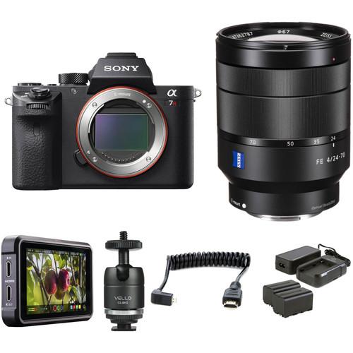 Sony Alpha a7R II Mirrorless Digital Camera with 24-70mm f/4 Lens HDR Filmmaker Kit