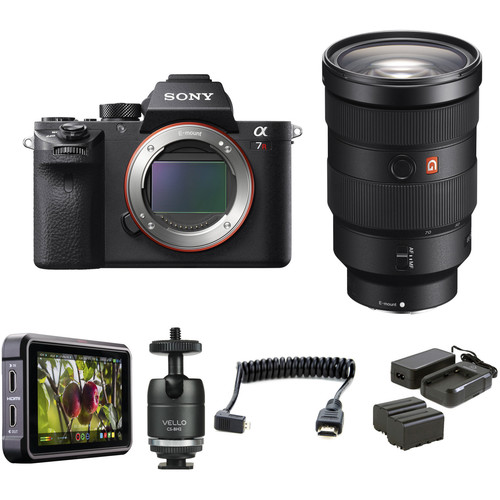 Sony Alpha a7R II Mirrorless Digital Camera with 24-70mm f/2.8 Lens HDR Filmmaker Kit
