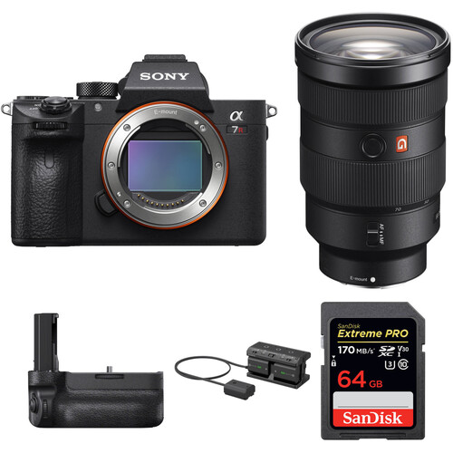 Sony Alpha a7R III Mirrorless Digital Camera with 24-70mm f/2.8 Lens and Vertical Grip Kit