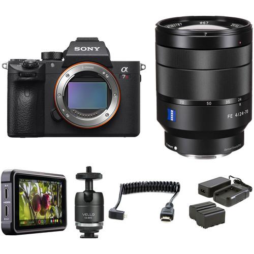 Sony Alpha a7R III Mirrorless Digital Camera with 24-70mm f/4 Lens HDR Filmmaker Kit