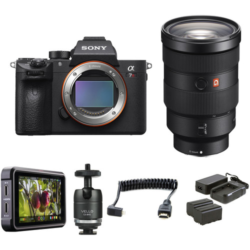 Sony Alpha a7R III Mirrorless Digital Camera with 24-70mm f/2.8 Lens HDR Filmmaker Kit