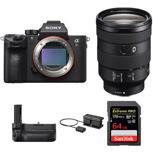 Sony Alpha a7R III Mirrorless Digital Camera with 24-105mm Lens and Vertical Grip Kit