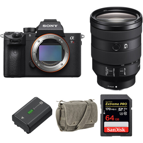 Sony Alpha a7R III Mirrorless Digital Camera with 24-105mm Lens and Accessories Kit