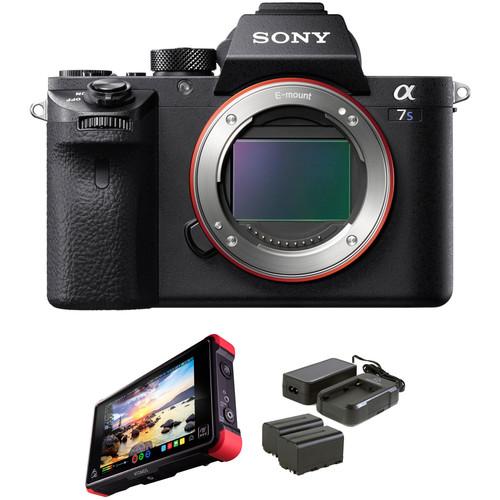 Sony Alpha a7S II Mirrorless Digital Camera with Atomos Ninja Flame Monitor Kit