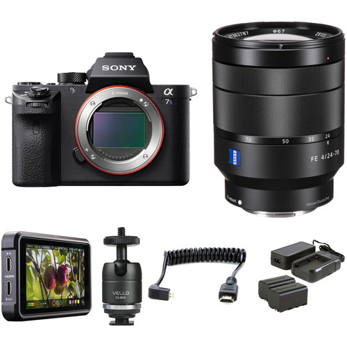 Sony Alpha a7S II Mirrorless Digital Camera with 24-70mm f/4 Lens HDR Filmmaker Kit