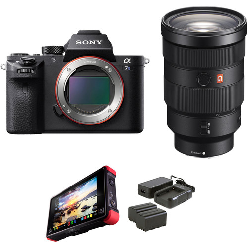 Sony Alpha a7S II Mirrorless Digital Camera with 24-70mm f/2.8 Lens and External Monitor Kit