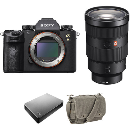 Sony Alpha a9 Mirrorless Camera with 24-70mm Lens and Storage Kit