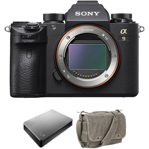 Sony Alpha a9 Mirrorless Digital Camera with External Hard Drive and Shoulder Bag Kit