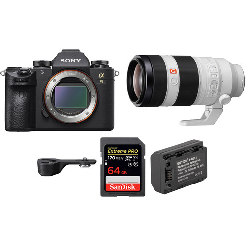 Sony Alpha a9 Mirrorless Digital Camera with 100-400mm Lens and Grip Extension Kit