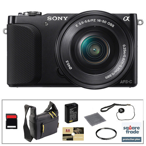 Sony Alpha NEX-3N Mirrorless Digital Camera with 16-50mm Lens Essential Accessory Kit (Black)