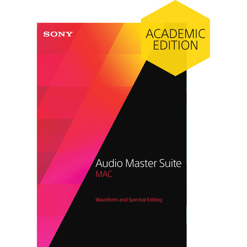 Sony Audio Master Suite Mac 2 - Waveform and Spectral Editing Software Bundle for OS X (Educational Download)