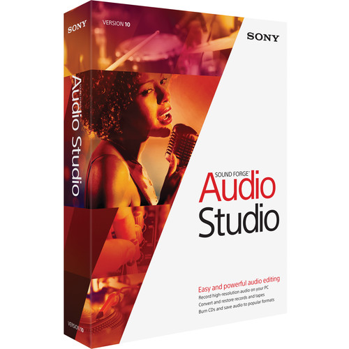 Sony Sound Forge Audio Studio 10 - Audio Editing/Production Software (Academic 5-99 Site Licenses)