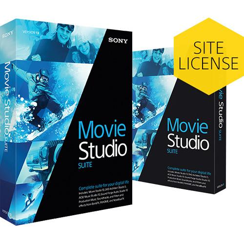 Sony Movie Studio 13 Suite (Academic, 5-99 License Tier, Download)