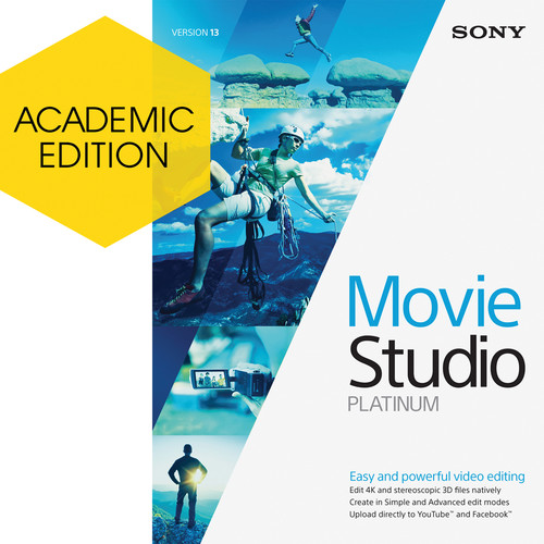Sony Movie Studio Platinum 13 (Academic, 5-99 License Tier)