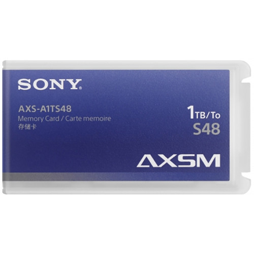 Sony AXSM A Series 4.8 Gb/s Memory Card for AXS-R5 & R7 Camera Recorders (1TB, Black Trim)