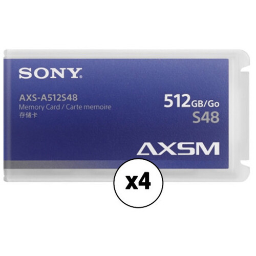 Sony 512GB AXS Memory A-Series Card (4-Pack)