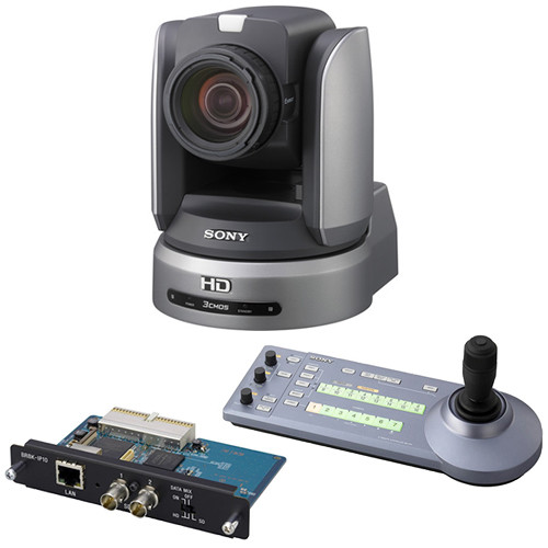 "Sony BRC-H900 1/2"" HD 3CMOS Remote PTZ Camera with IP Control Card and IP Remote Controller"