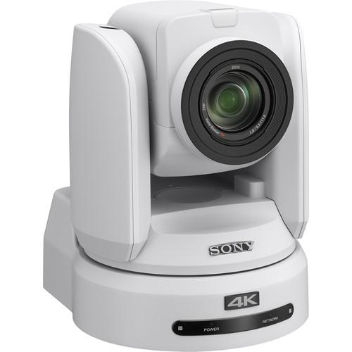 """Sony BRC-X1000/WPW 4K PTZ Camera with 1"""" CMOS Sensor and PoE+ (White)"""