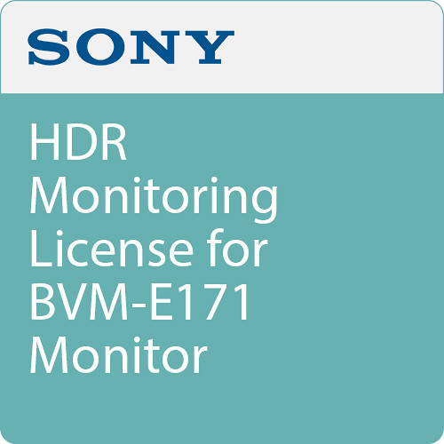 Sony HDR Monitoring License for BVM-E171 Monitor