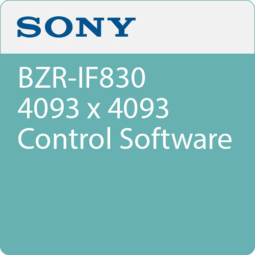Sony BZR-IF830 4093 x 4093 Control Software