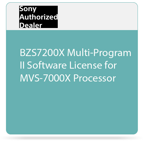 Sony BZS7200X Multi-Program II Software License for MVS-7000X Processor