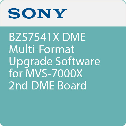 Sony BZS7541X DME Multi-Format Upgrade Software for MVS-7000X 2nd DME Board