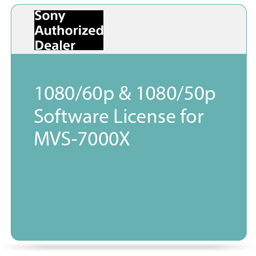 Sony 1080/60p & 1080/50p Software License for MVS-7000X