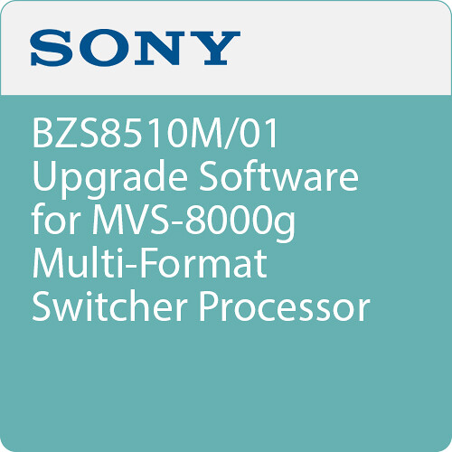 Sony BZS8510M/01 Upgrade Software for MVS-8000g Multi-Format Switcher Processor