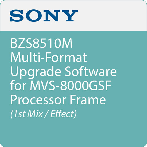 Sony BZS8510M Multi-Format Upgrade Software for MVS-8000GSF Processor Frame (1st M/E)