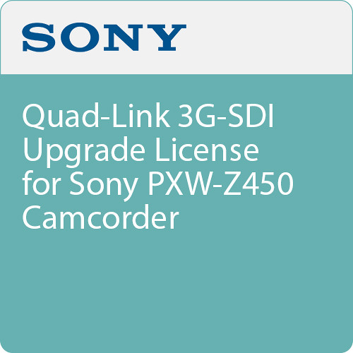 Sony Quad-Link 3G-SDI Upgrade License for Sony PXW-Z450 Camcorder