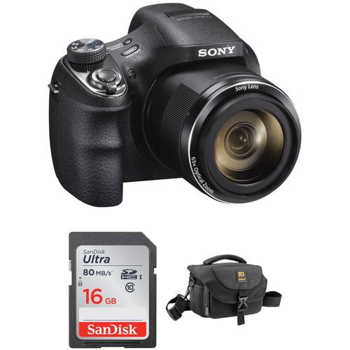 Sony Cyber-shot DSC-H400 Digital Camera Basic Kit (Black)