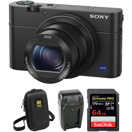 Sony Cyber-Shot DSC-RX100 IV Digital Camera with Free Accessory Kit