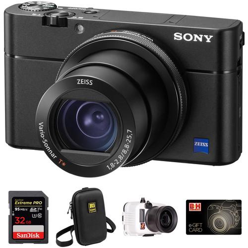 Sony Cyber-shot DSC-RX100 V Digital Camera Underwater Kit