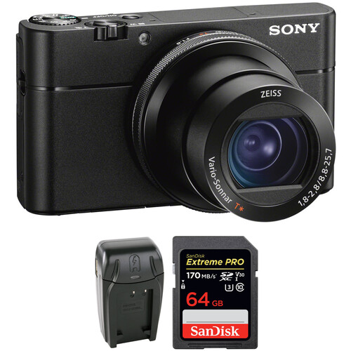 Sony Cyber-shot DSC-RX100 VA Digital Camera with Accessories Kit