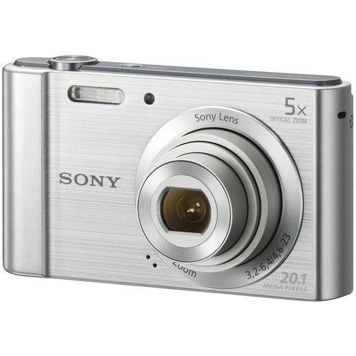 Sony Cyber-shot DSC-W800 Digital Camera with Accessories Kit (Silver)