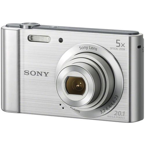 Sony Cyber-shot DSC-W800 Digital Camera with Accessories Kit (Silver)