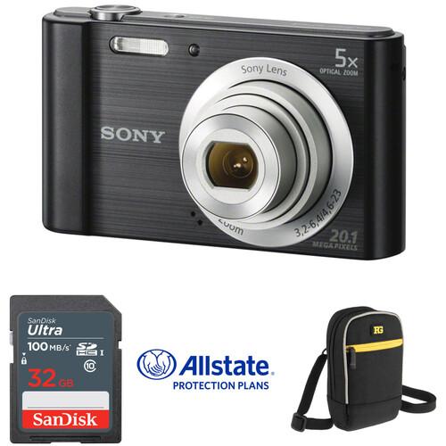 Sony Cyber-shot DSC-W800 Digital Camera Deluxe Kit (Black)