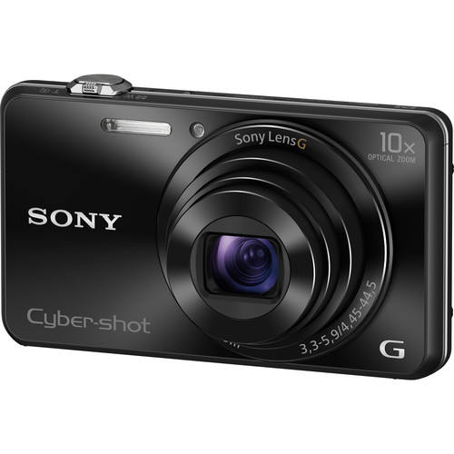 Sony Cyber-shot DSC-WX220 Digital Camera Basic Kit (Black)