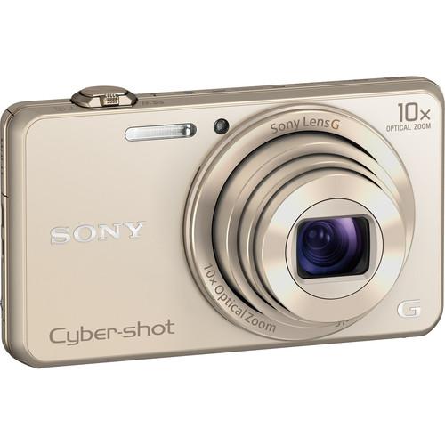 Sony Cyber-shot DSC-WX220 Digital Camera Deluxe Kit (Gold)