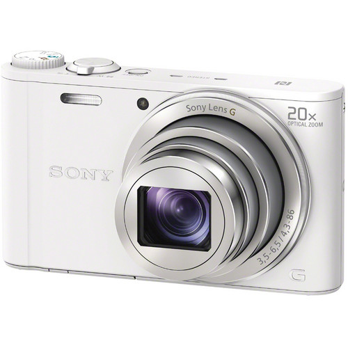 Sony Cyber-shot DSC-WX350 Digital Camera with Free Accessory Kit (White)