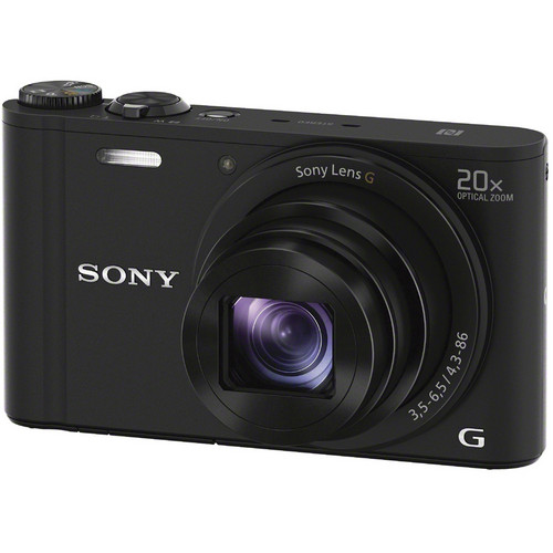 Sony Cyber-shot DSC-WX350 Digital Camera with Free Accessory Kit (Black)