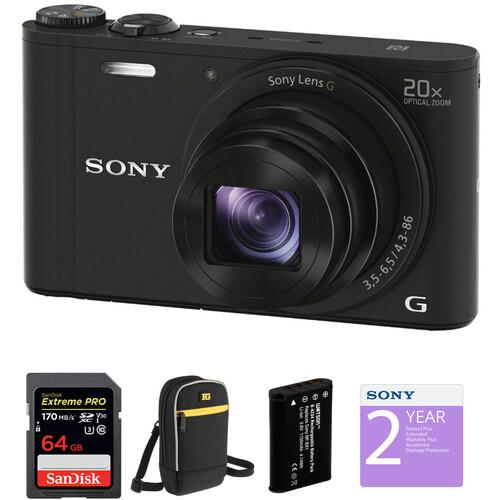 Sony Cyber-shot DSC-WX350 Digital Camera Deluxe Kit (Black)
