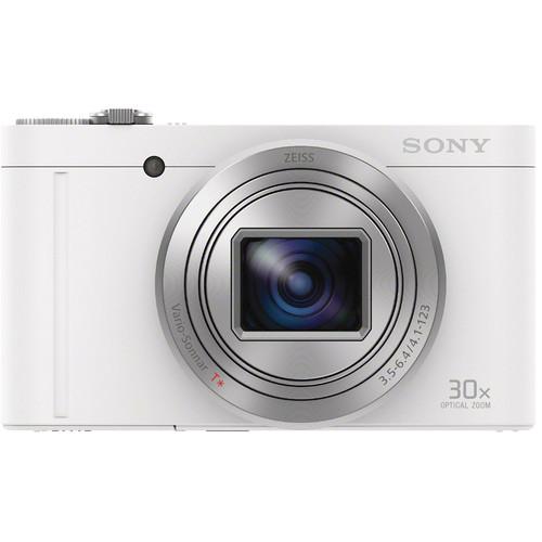 Sony Cyber-shot DSC-WX500 Digital Camera Basic Kit (White)