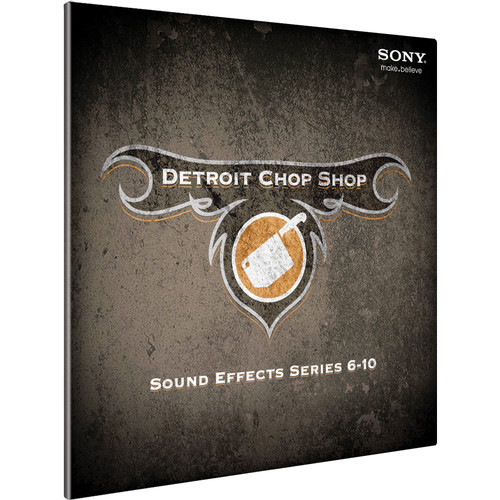 Sony The Detroit Chop Shop Sound Effect Library (Volumes 6-10)