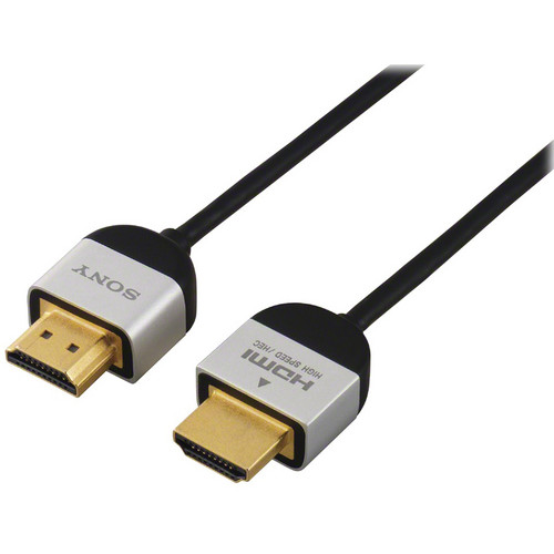 Sony DLC-HE20S Slim High Speed 4K/3D/Ethernet HDMI Cable - 6.6' (2 m)