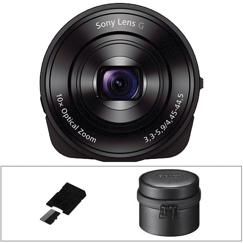 Sony DSC-QX10 Digital Camera Module for Smartphones Basic Kit (Black)