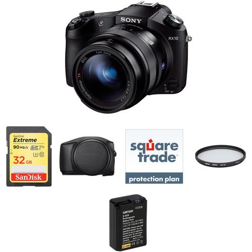 Sony Cyber-shot DSC-RX10 Digital Camera Deluxe Kit (Black)