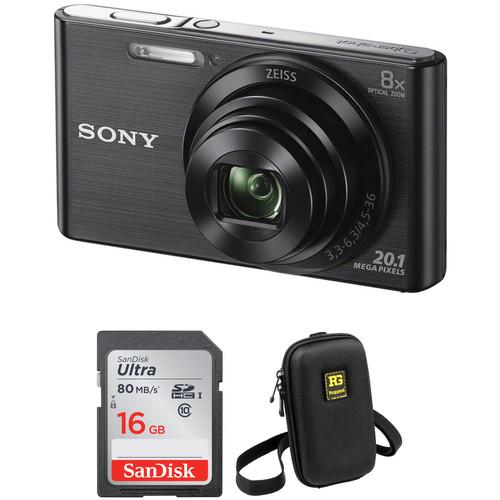 Sony DSC-W830 Digital Camera Basic Kit (Black)