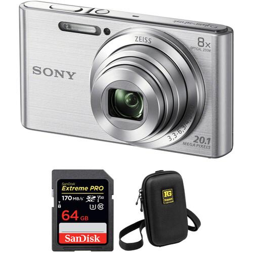 Sony DSC-W830 Digital Camera Basic Kit (Silver)
